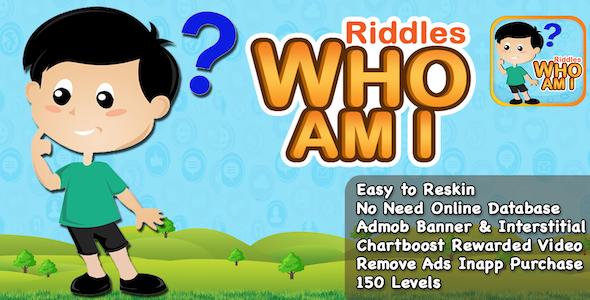 Riddles Who Am I + Best Riddle Game For Kids + IOS Version - CodeCanyon Item for Sale