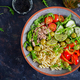Pasta salad with tuna, tomatoes, olives, cucumber, sweet pepper and arugula - PhotoDune Item for Sale