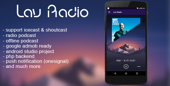 Lav Radio (single station) android - CodeCanyon Item for Sale