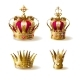 Royal Family Golden Crowns Realistic Vector Set - GraphicRiver Item for Sale