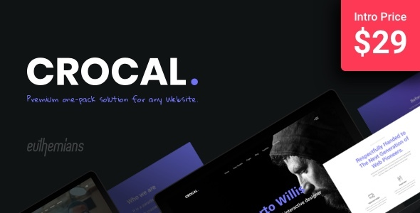 Crocal - Responsive Multi-Purpose WordPress Theme