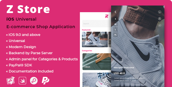 Z Store | iOS E-Commerce Shop Application with PayPal SDK