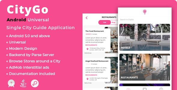 CityGo | Android Universal Single City Guide Application