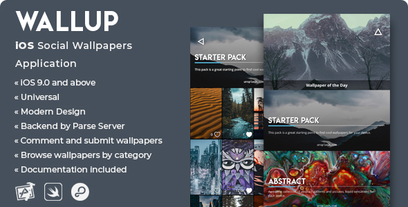 WallUp | iOS Social Wallpapers Application - CodeCanyon Item for Sale