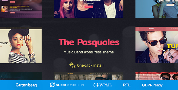 The Pasquales - Music Band, DJ and Artist WP Theme