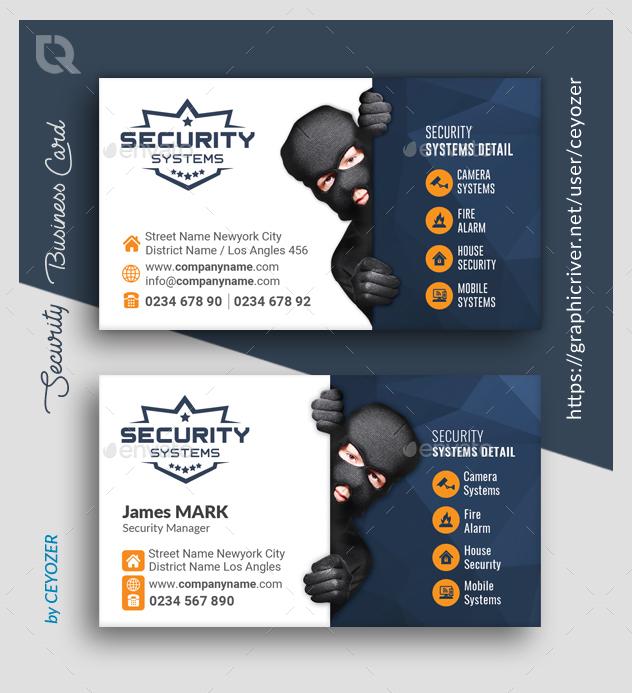 Security Business Card Templates