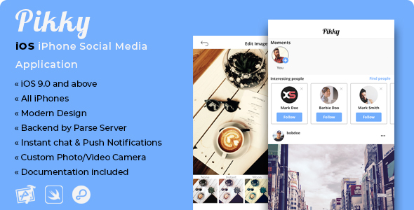 Pikky | iOS iPhone Social Media Application - CodeCanyon Item for Sale