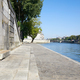 Paris, Seine river docks in gray stone in a sunny summer day - PhotoDune Item for Sale