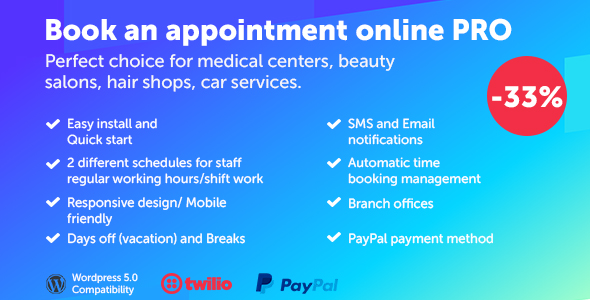 Book an appointment online PRO - CodeCanyon Item for Sale