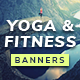 Yoga/Fitness Banner Set - GraphicRiver Item for Sale