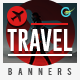 Travel Web Banner Set - GraphicRiver Item for Sale