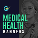 Medical Health Web Banner Set - 28 Banners - GraphicRiver Item for Sale