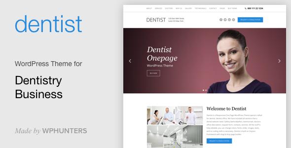 Dentist - Dental One Page WordPress Theme - Health & Beauty Retail