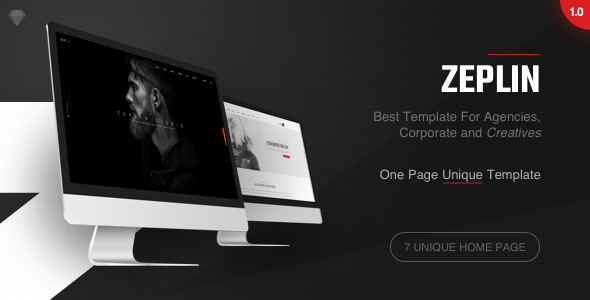 Zeplin | One-Page Creative Sketch Template - Sketch Templates