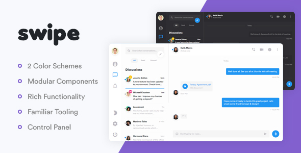 Swipe – The Simplest Chat Platform | Bootstrap4