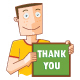 Happy Man with Thank You Board - GraphicRiver Item for Sale