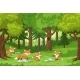 Foxes in the Forest - GraphicRiver Item for Sale
