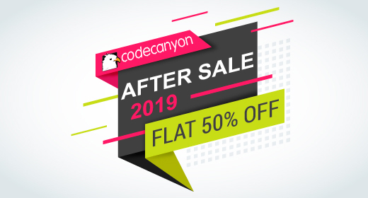 CodeCanyon after sale FLAT 50% OFF