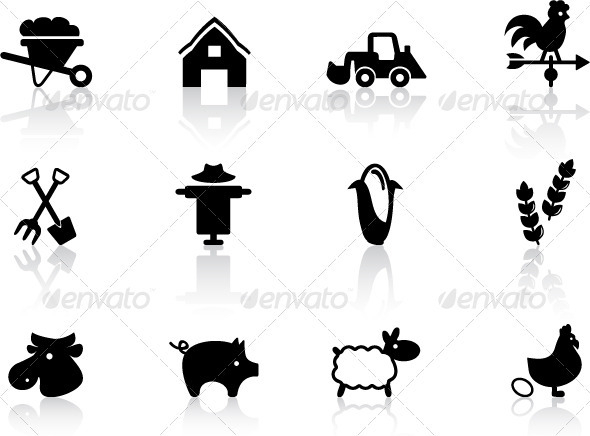 Farm Icons Set  - Objects Icons