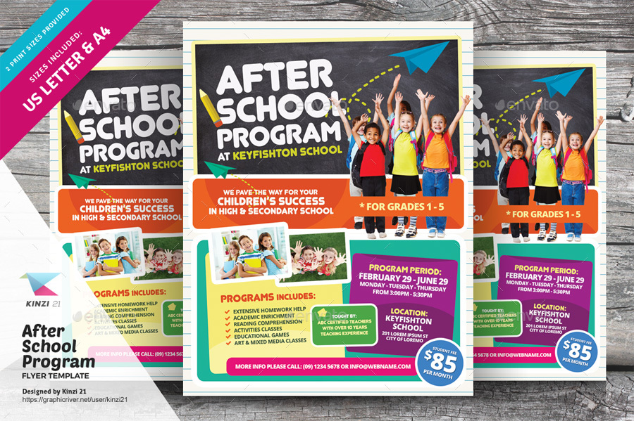 After School Program Flyer Template By Kinzi21 Graphicriver