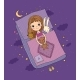 Sleeping Girl. Baby in Bed with Toys. - GraphicRiver Item for Sale