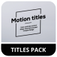 Ultra Simple Titles - VideoHive Item for Sale