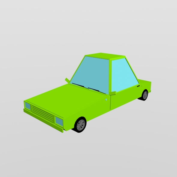 Low poly car - 3DOcean Item for Sale