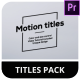 Ultra Simple Titles for Premiere Pro | MOGRT - VideoHive Item for Sale