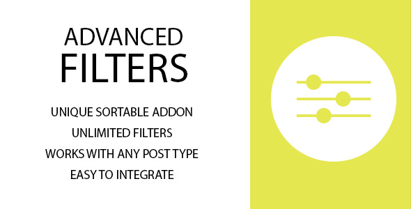 Advanced Filters Sortable Addon - CodeCanyon Item for Sale