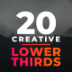 20 Creative Lower Thirds - VideoHive Item for Sale
