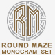 Monogram Set in a Round Maze Letters A to Z - GraphicRiver Item for Sale