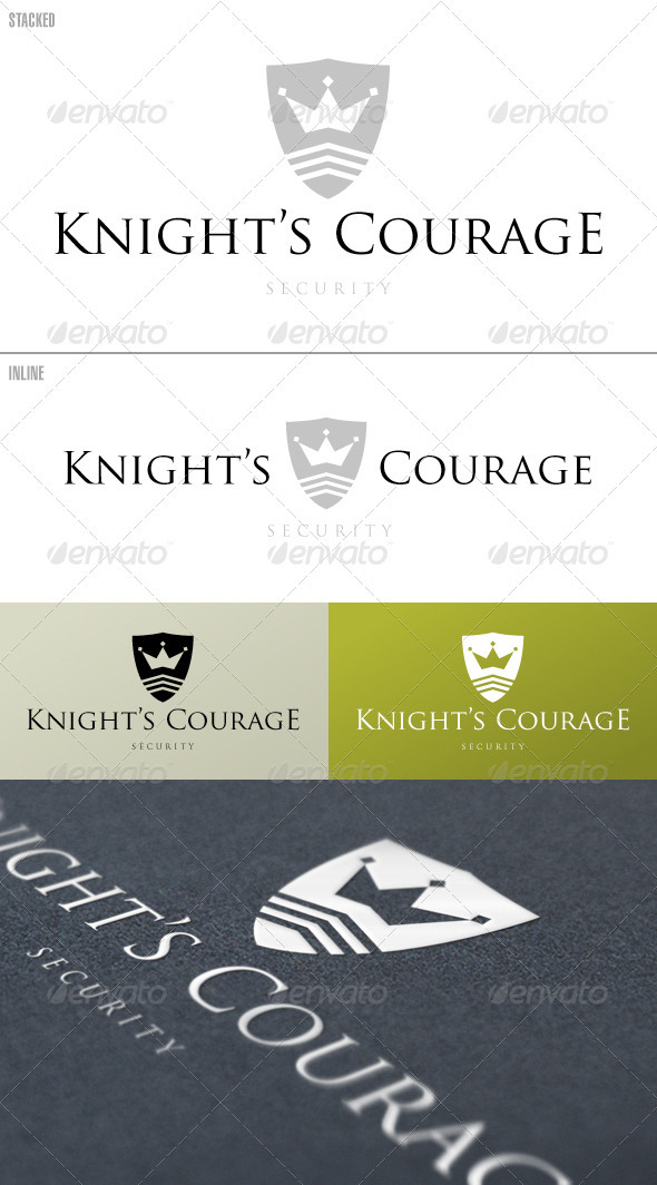 Knight's Courage Shield – Logo Template
