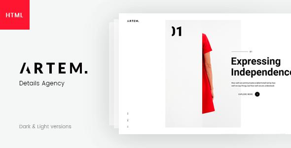 ARTEM – Digital Agency HTML5 Template by ArtTemplate