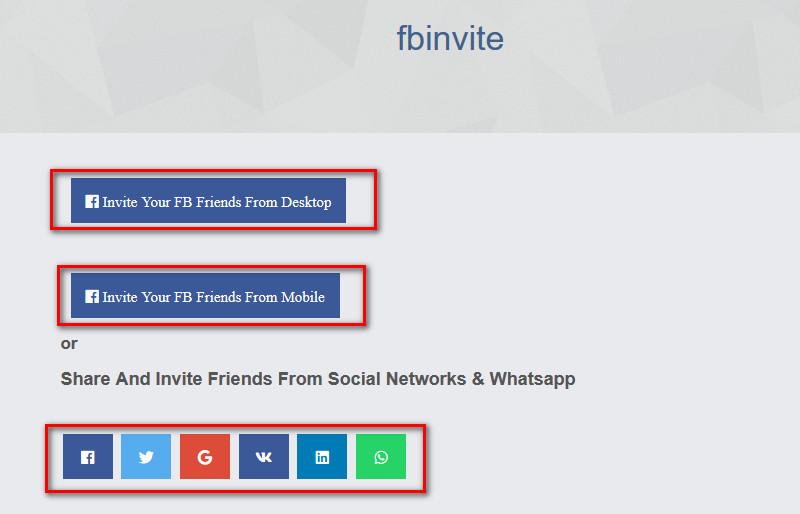 Facebook Invite Addon For Sngine - 1