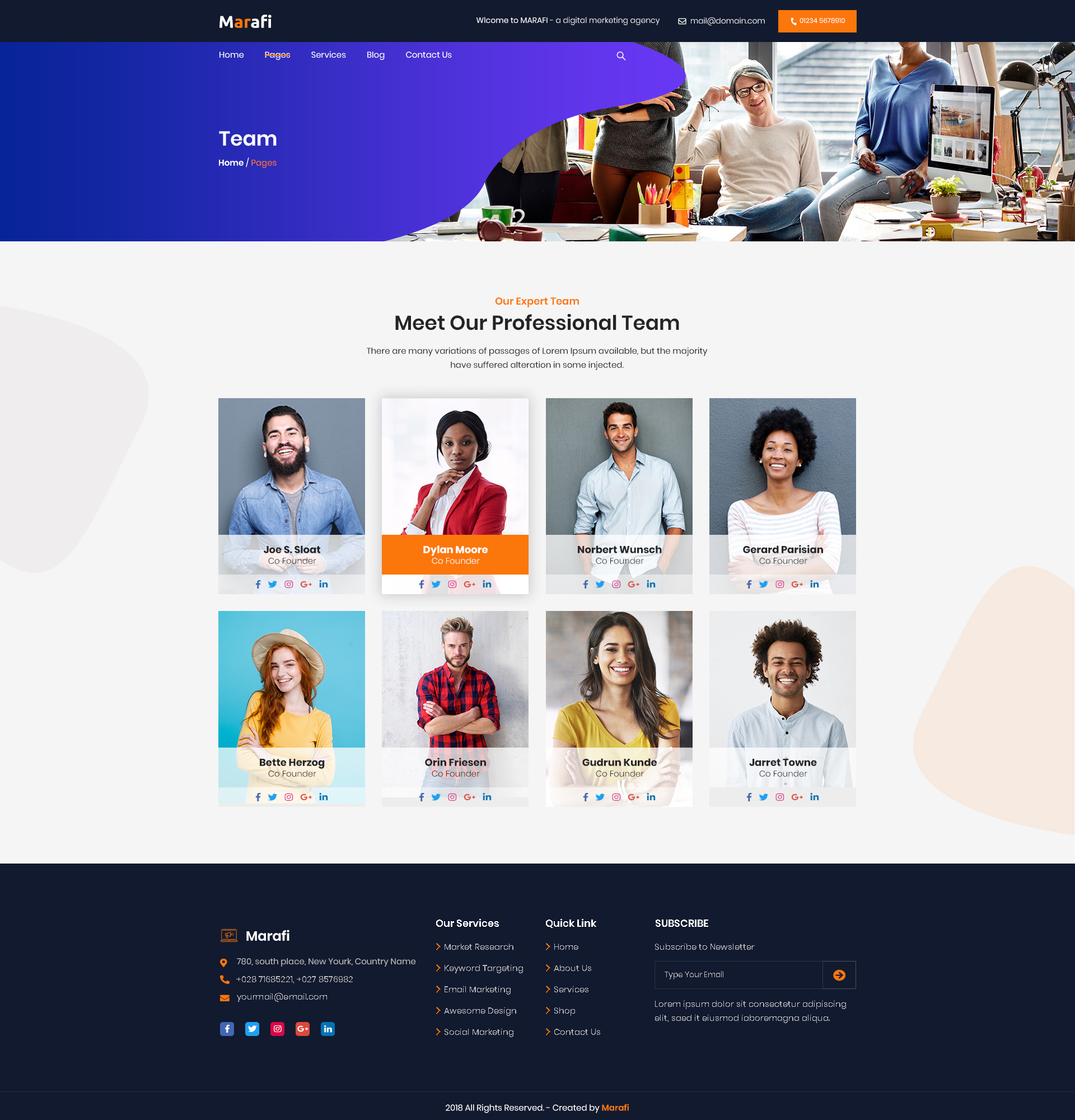 Marafi - Digital Marketing Agency PSD Template