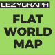 Flat World Map - VideoHive Item for Sale