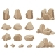 Stone Rock. Stones Boulder, Gravel Rubble and Pile - GraphicRiver Item for Sale
