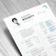 Resume CV - 02 Page v.01 - GraphicRiver Item for Sale