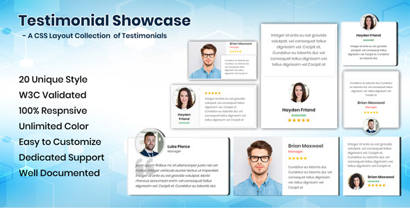Testimonials CSS Showcase - CodeCanyon Item for Sale