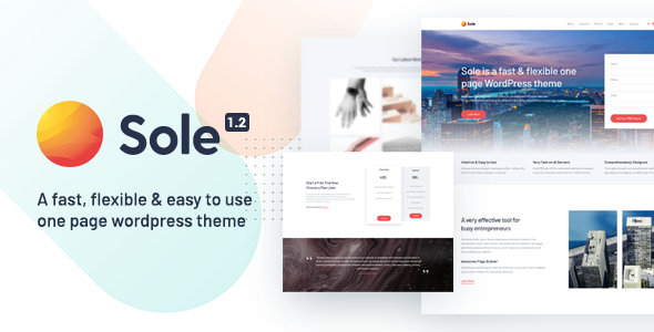 Sole - One Page WordPress Theme - Business Corporate