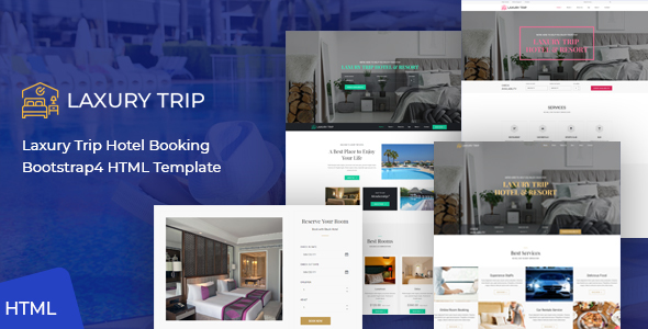 Wonderful Laxury Trip - Hotel Booking HTML Template