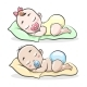 Cartoon Sleeping Boy and Girl - GraphicRiver Item for Sale