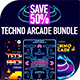 Techno Arcade Bundle 2019 - GraphicRiver Item for Sale