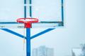 Frozen outdoor basketball hoop in winter snow - PhotoDune Item for Sale