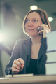 Happy smiling businesswoman talking on mobile phone - PhotoDune Item for Sale