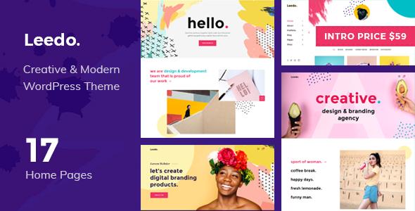 Leedo – Modern, Colorful & Creative Portfolio WordPress Theme - Portfolio Creative