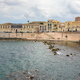 Waterfront of Ortygia Island with small pebble beach - PhotoDune Item for Sale
