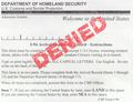 Denied US Immigration Form - PhotoDune Item for Sale