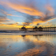 Huntington Beach pier at sunset - PhotoDune Item for Sale