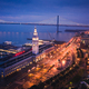 Aerial View of San Francisco Ferry Building at Dusk - PhotoDune Item for Sale